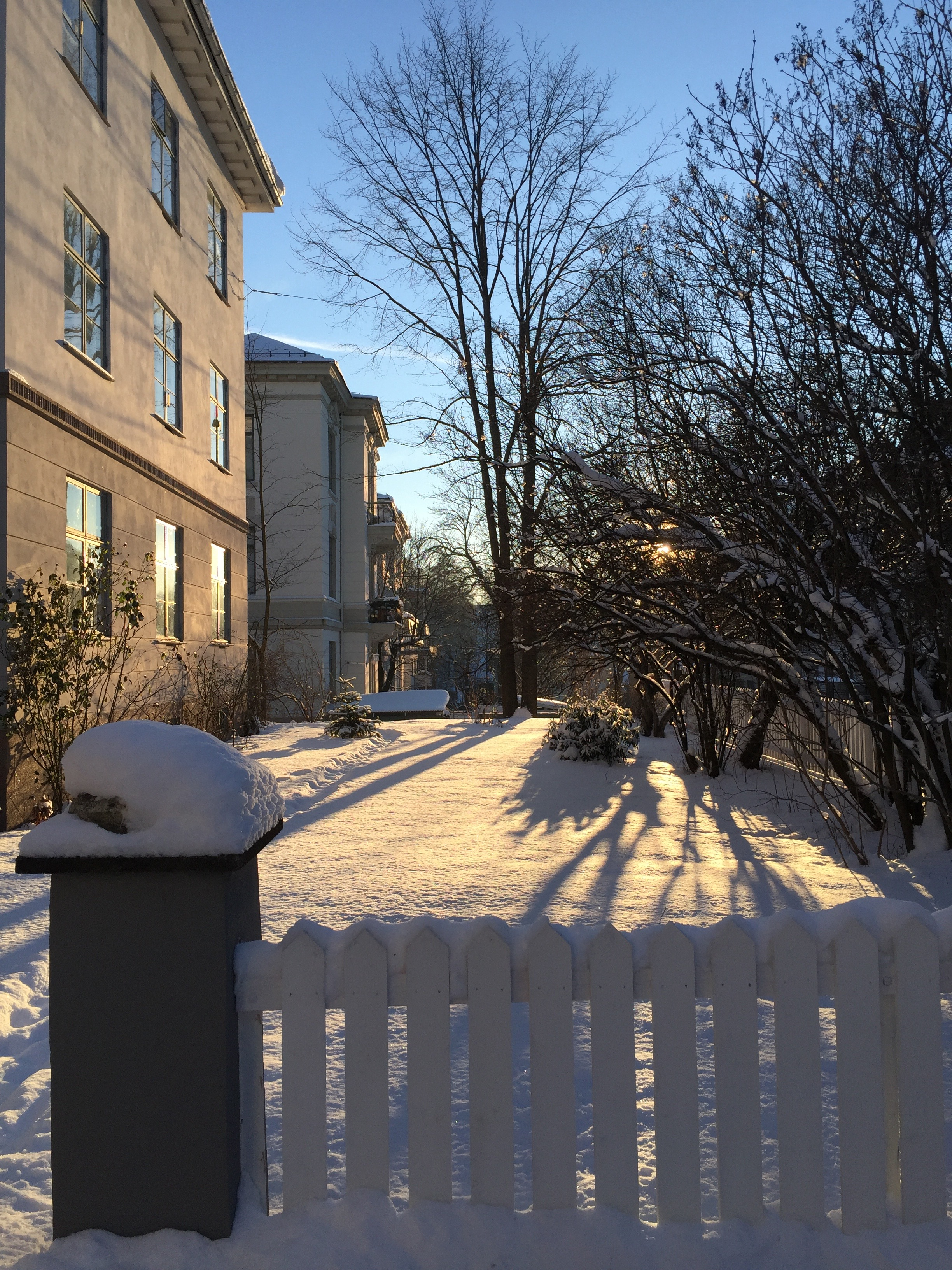 Norway winter - our apartment building